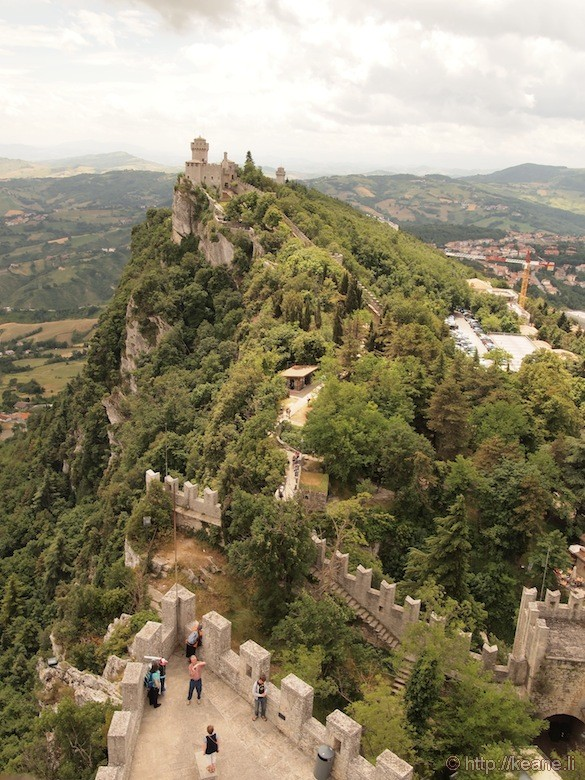 Panoramic View from top of Guaita Castle in San Marino