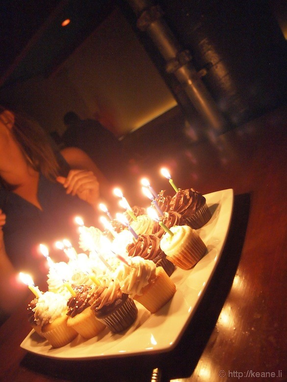 Grand Opening of Muka in San Francisco - Birthday Candles in Dark