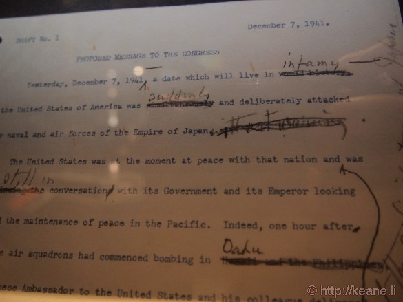 "USS Arizona Memorial - ""Day that will live in infamy"" Draft"
