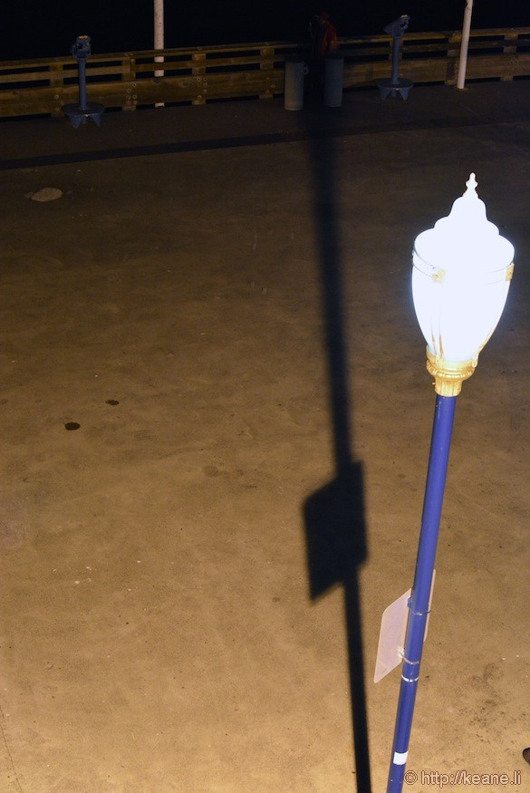 Pier 39 Lamp After Dark