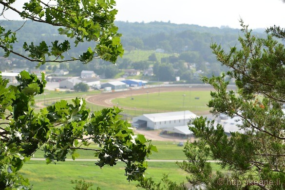 View of Decorah, IA from Palisades Park