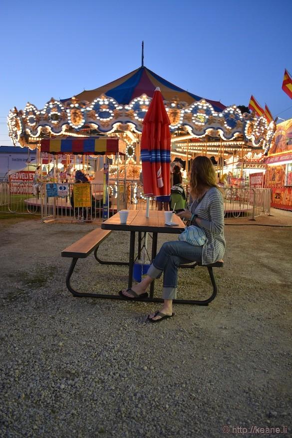 Winneshiek County Fair at Night