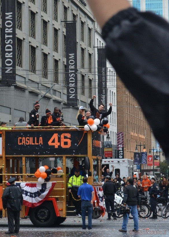SF Giants World Series 2014 Parade - Buster Posey & Santiago Casilla