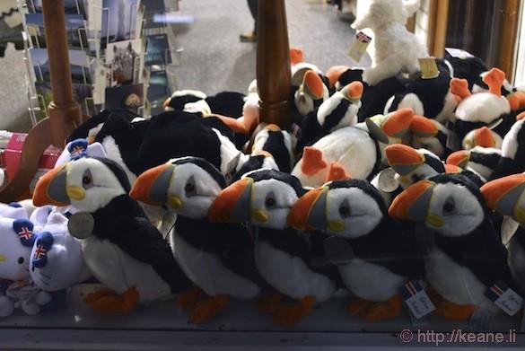 Reykjavík, Iceland - Puffin Toys on Laugavegur