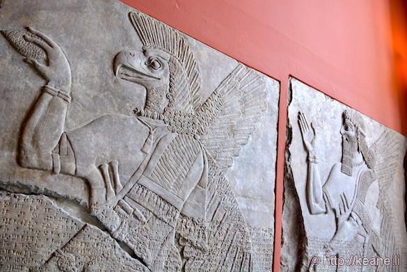 Ancient reliefs in Berlin's Pergamon Museum