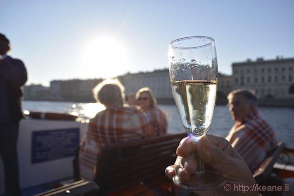 Sparkling Wine on St. Petersburg Boat Ride