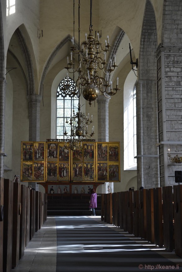 Inside St. Nicholas' Church in Tallinn