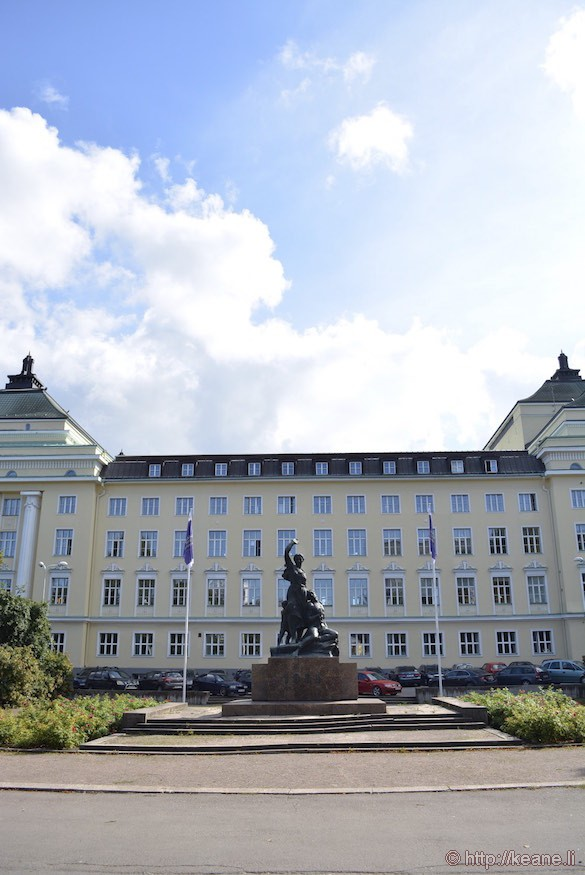 Tallinn Government Building and Statue
