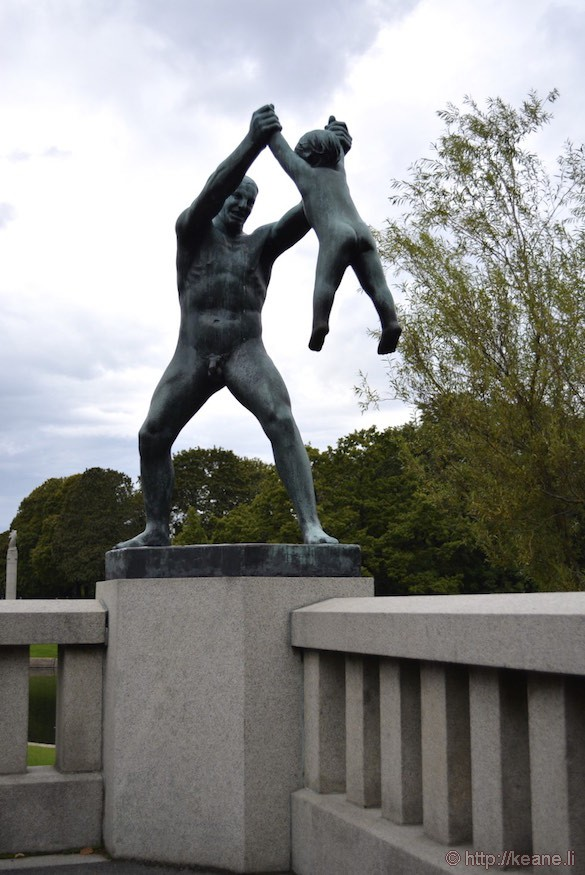 Gustav Vigeland Sculpture in Frogner Park in Oslo