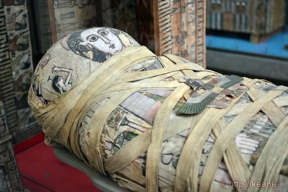 Mummy of Cleopatra at the British Museum