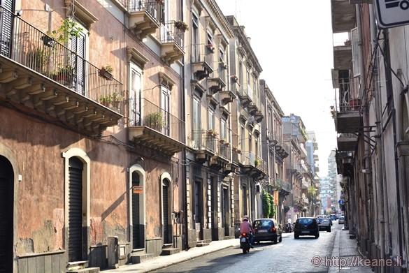 Via Etnea in Catania at Sunset