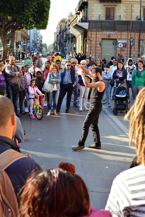 Street Performer in Front of Teatro Massimo