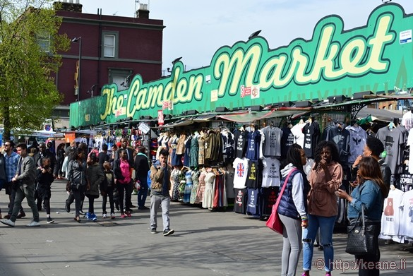 The Camden Market in Camden Town