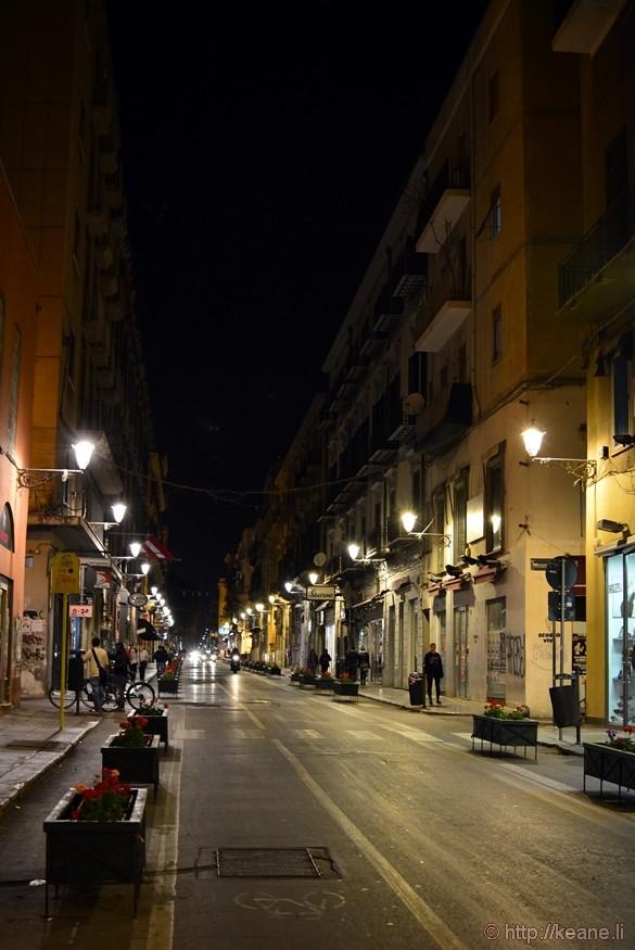Via Maqueda at Night in Palermo