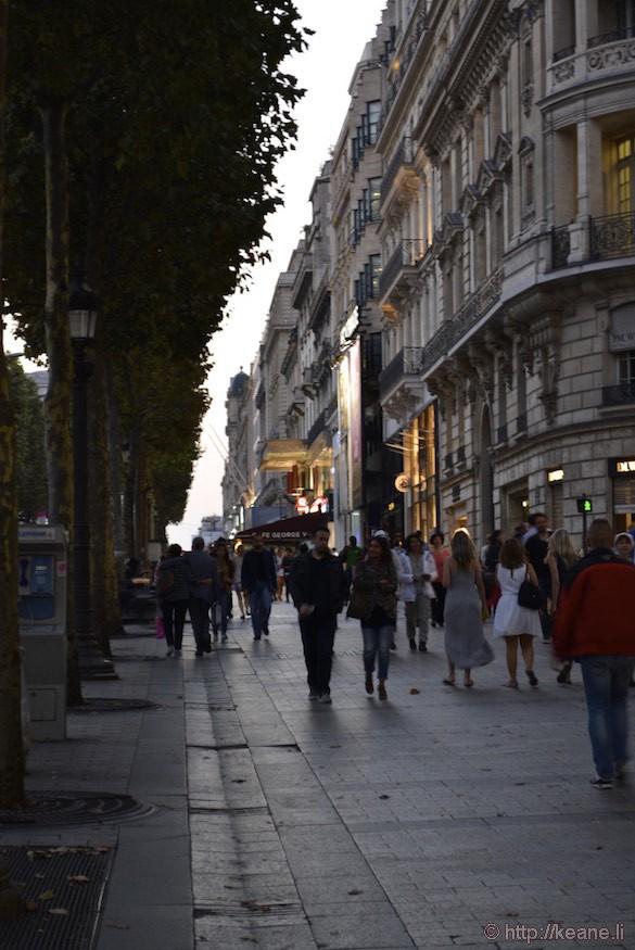 Champs-Élysées - Afternoon Crowd