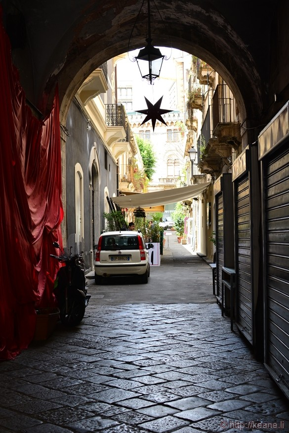 Arch and Street in Catania