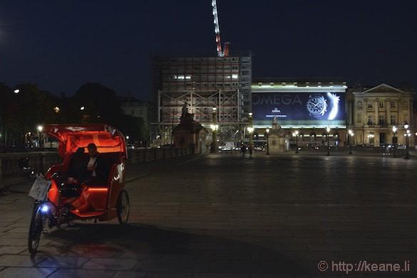 Place de la Concorde - Omega Ad and Taxi