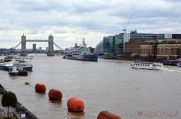 The Thames, Tower Bridge and HMS Belfast