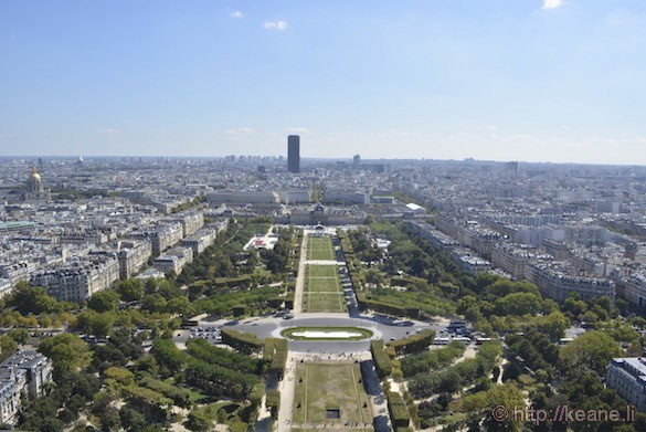 View of Paris from Eiffel Tower