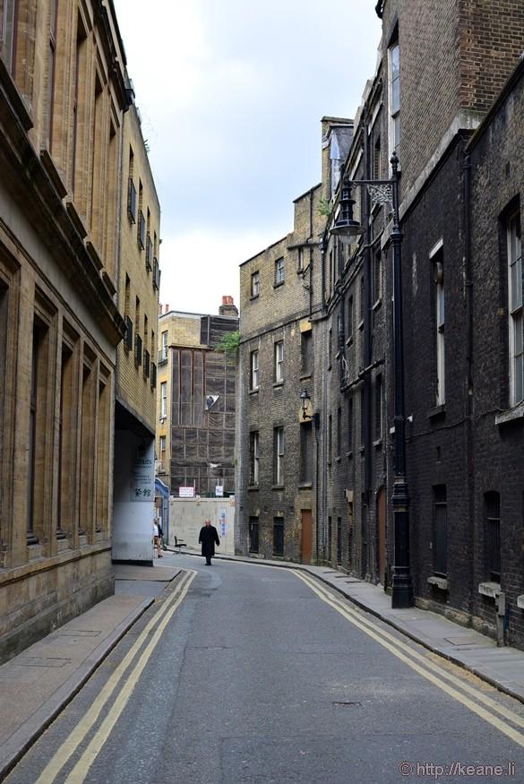 Man in Black in Alley in Westminster