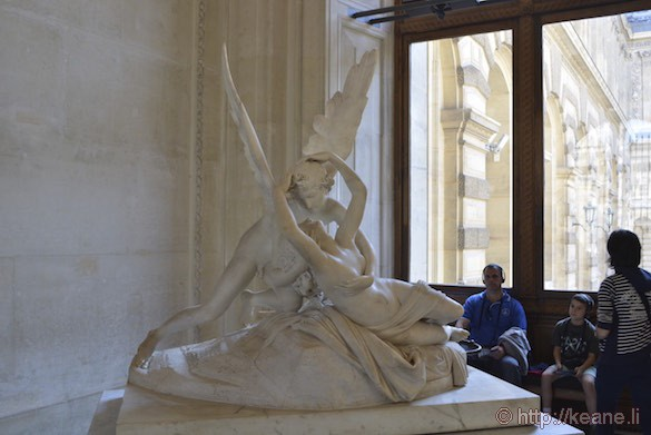 Louvre Museum - Antonio Canova's Psyche Revived by Cupid's Kiss