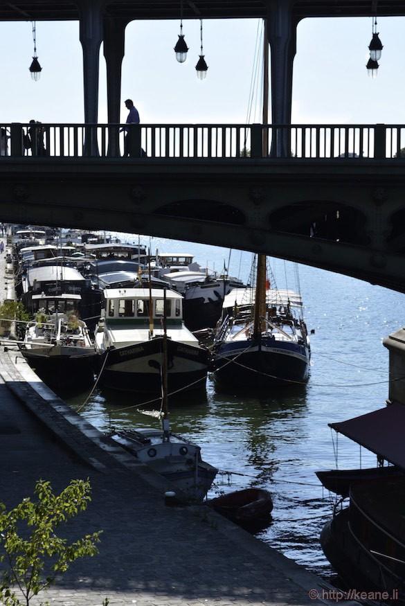 Seine Boats and Bridge