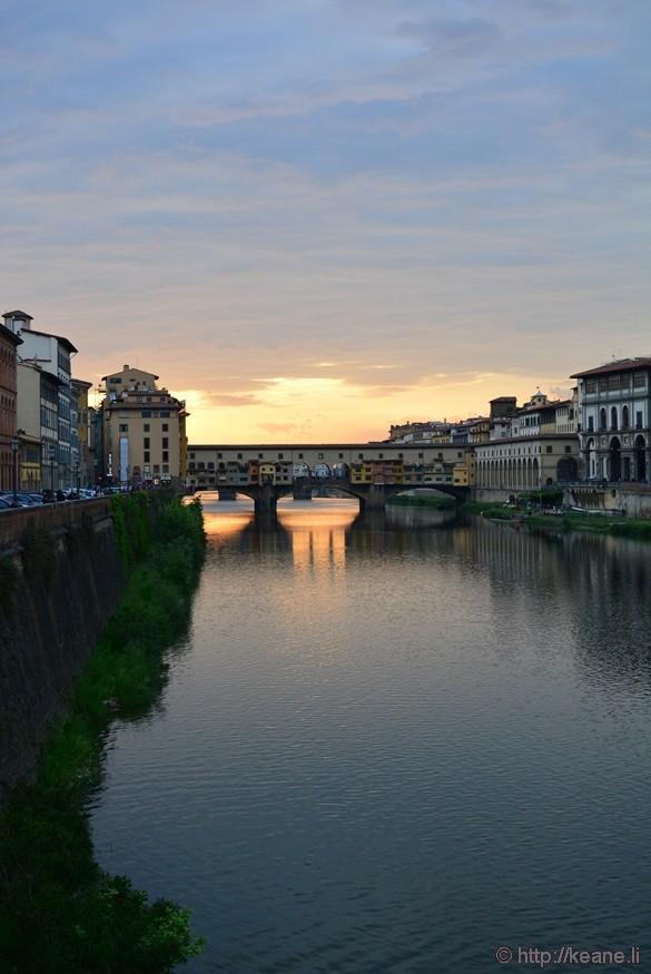 Ponte Vecchio at Sunset