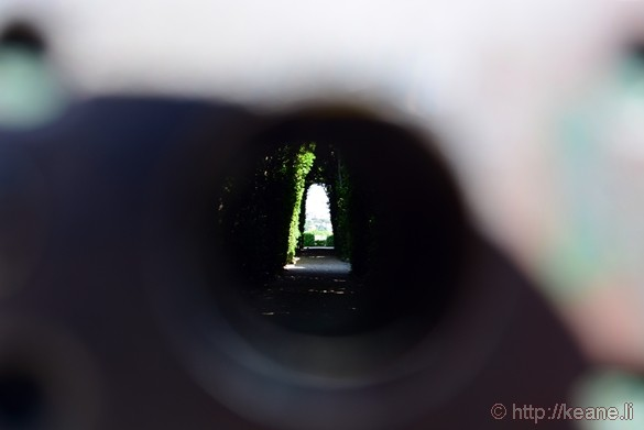 "Through the ""Keyhole"" on Aventino"