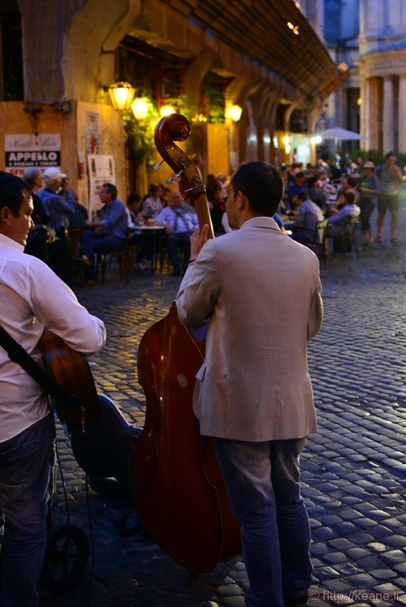 Live Band Performing in Rome's Centro Storico