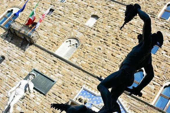 Perseus and David Statues in the Piazza della Signoria