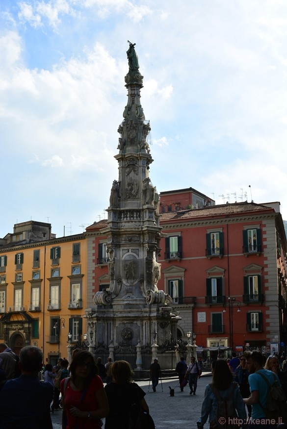 Spire of the Immaculate Virgin in the Piazza del Gesù Nuovo