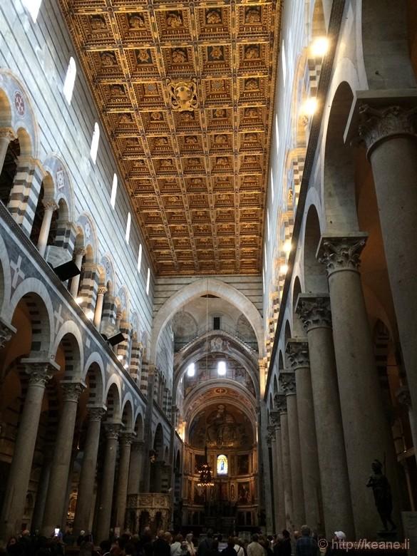 Inside the Cattedrale di Pisa