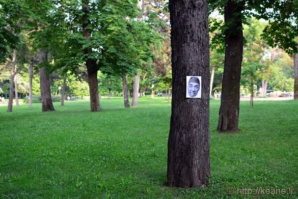 Weird Face Sign in Giardini Margherita