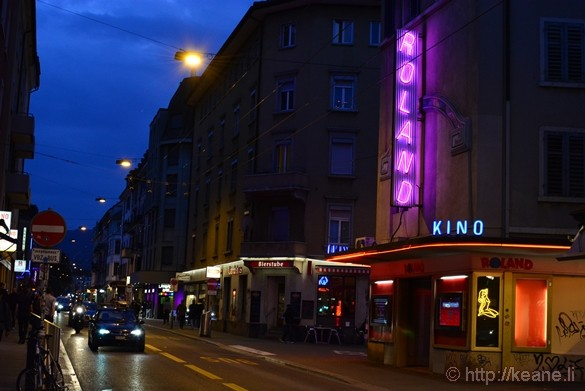 Zürich's Red Light District at Night