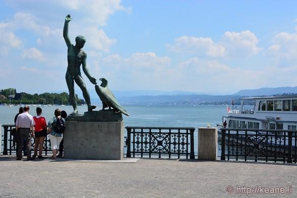 Statue Along Zürichsee (Lake Zürich)