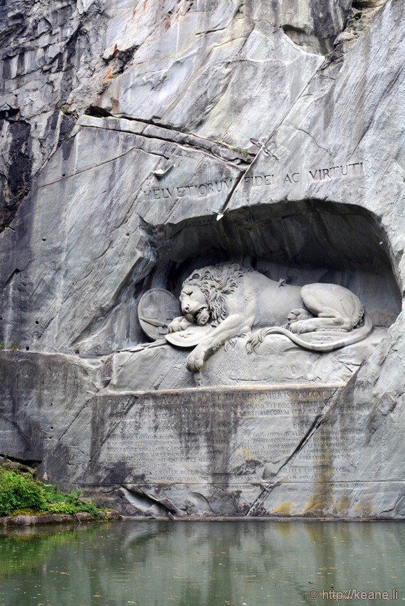 Löwendenkmal - Wounded Lion Monument by Thorvaldsen in Lucerne