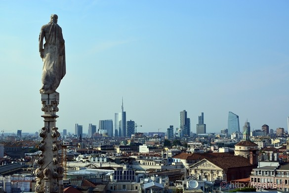 View of Milan from the Terrazze del Duomo
