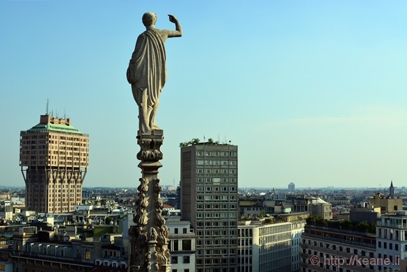 View from the Terrazze del Duomo in Milan