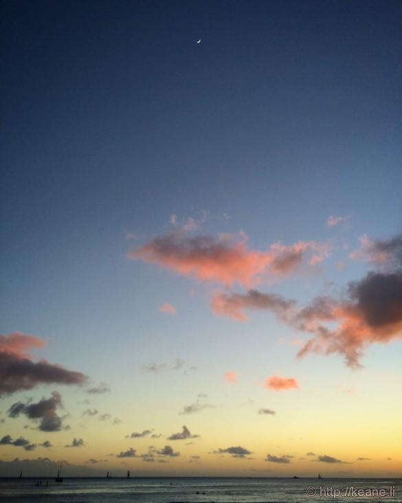 Oahu - Sunset Over Ala Moana Beach Park