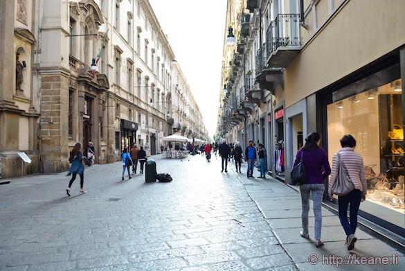 Via Giuseppe Garibaldi in Turin