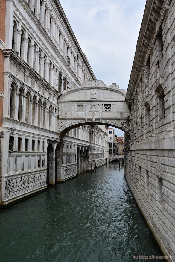 Bridge of Sighs in Venice
