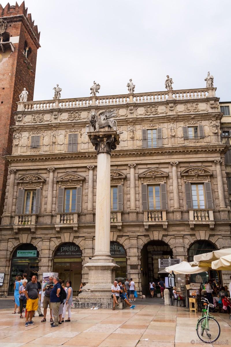 Column in Piazza delle Erbe in Verona