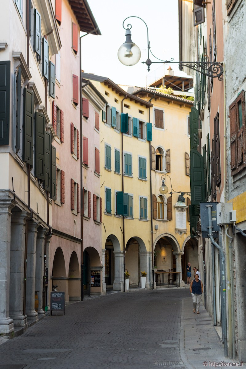 Colorful Buildings in Udine's Centro Storico
