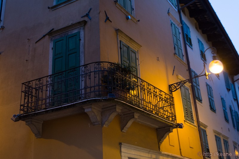 Building and Street Lamp in Udine's Centro Storico