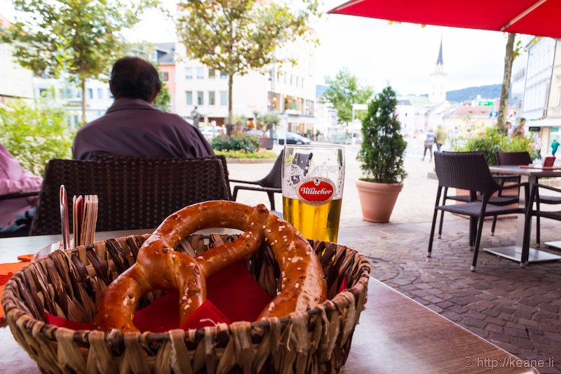 Brezel at Villacher Brauhof in Villach, Austria
