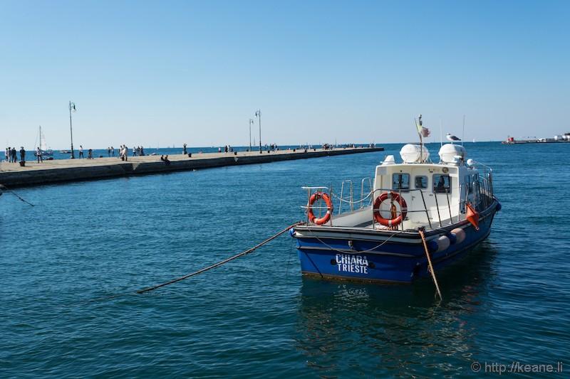 Boat in Gulf of Trieste