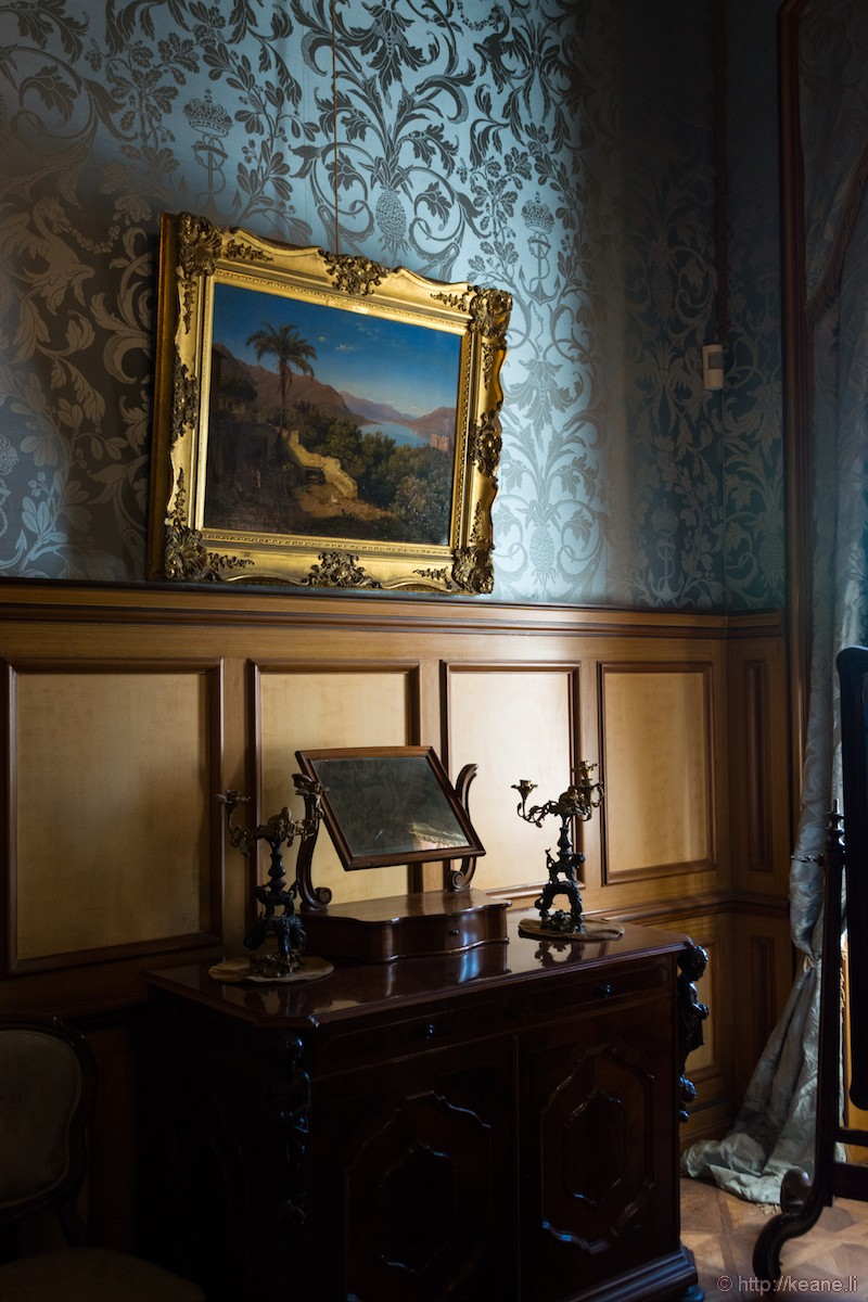 Inside the Castello di Miramare