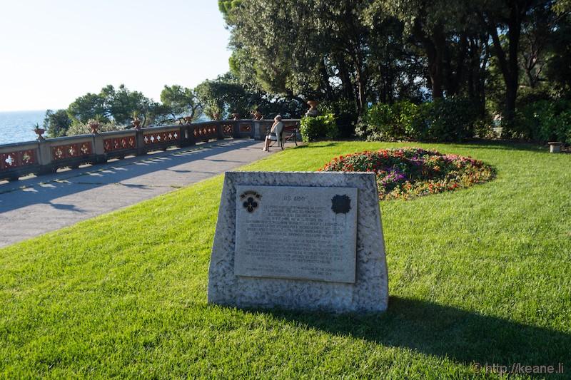 US Army Memorial at the Castello di Miramare