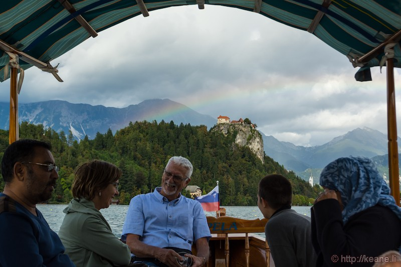 Rainbow and Bled Castle