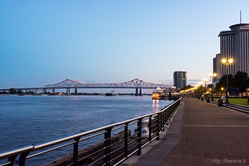 New Orleans Waterfront and the Crescent City Connection Bridge